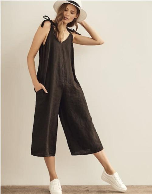 Charlie B Linen Cropped Jumpsuit