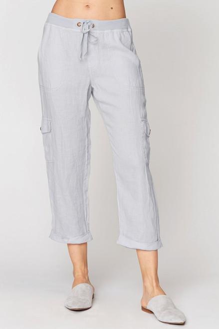 XCVI Moya Cuffed Linen Crop Pant