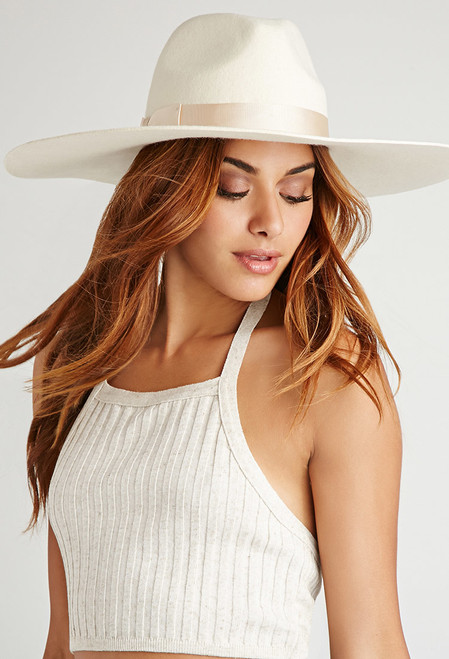 Lack of Color Montana Wide Brim Fedora in Ivory
