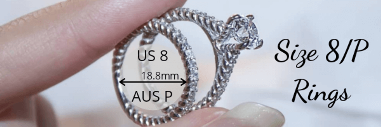 Size 8 P Rings