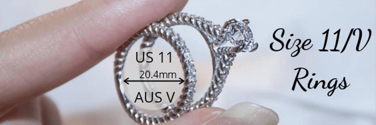 Size 11 V Rings