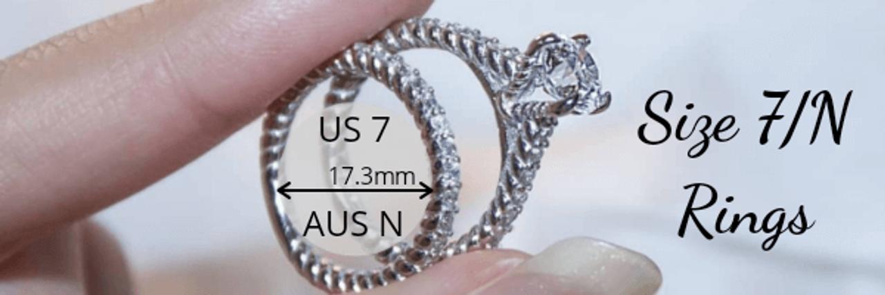 Size 7 N Rings