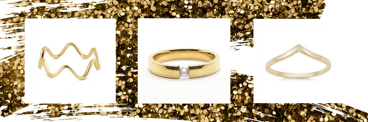 Yellow Gold Plated Rings