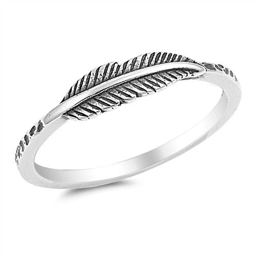 STERLING SILVER 925 Oxidised Boho Leaf Thumb Ring