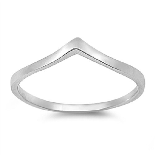 STERLING SILVER 925 Minimalist V Shaped Wishbone Ring