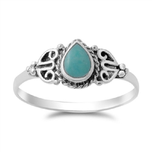 STERLING SILVER 925 Turquoise Knuckle Boho Ring