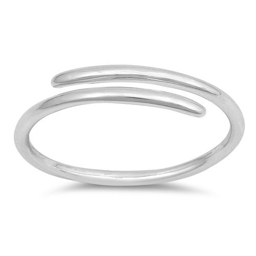STERLING SILVER 925 Minimalist Open Wrap Ring