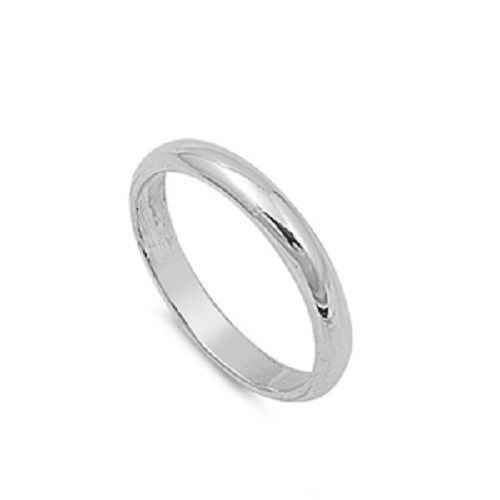 925 STERLING SILVER Wedding Ring Comfort 3mm Band