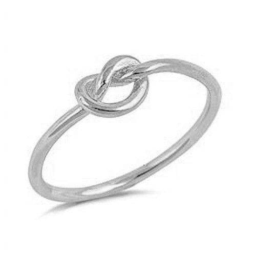 STERLING SILVER 925 Infinity Love Heart Knot Ring Plus Size