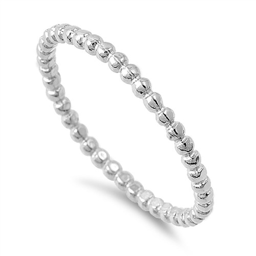 925 Sterling Silver Stackable Bubble Ring