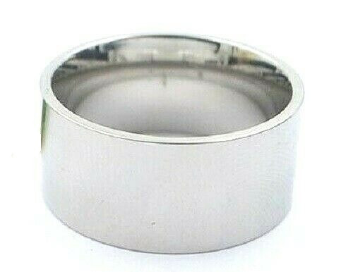 Wide Stainless Steel Wedding Band Ring