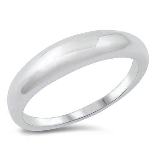 Sterling Silver Minimalist Dome Band Ring