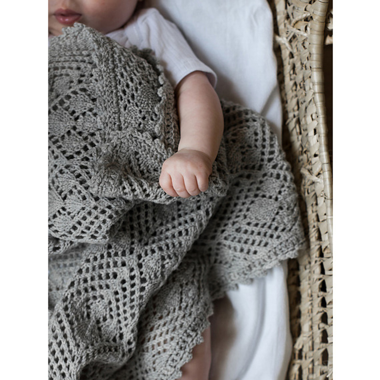 Camarose Leaf Fall Baby Blanket Knitting Pattern