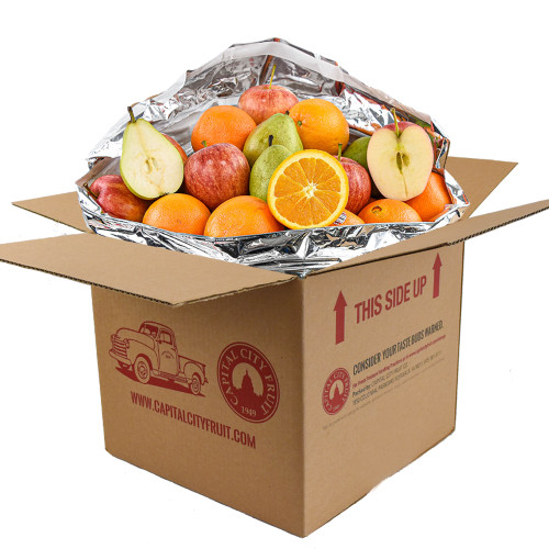 10lb Mixed Fruit Sampler Box with Pears, Apples, and Oranges (22 pieces)
