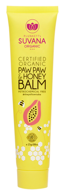 Suvana Certified Organic Paw Paw & Honey Balm 25g