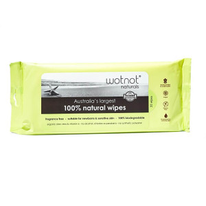 Wotnot Biodegradable Natural Baby Wipes - Travel Soft Pack Refill