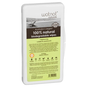 Wotnot Biodegradable Natural Baby Wipes - Travel Pack with Hard Case