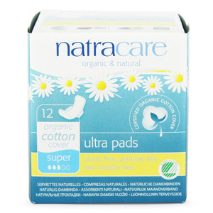 Natracare Organic Cotton Ultra Pads - Super