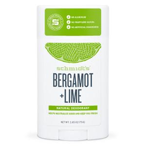 Schmidt's Natural Deodorant Stick - Bergamot + Lime 75g