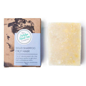 Australian Natural Soap Company Solid Shampoo for Oily Hair with box