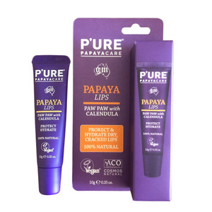 P'URE Papaya Care Papaya Lips Lip Balm 10g