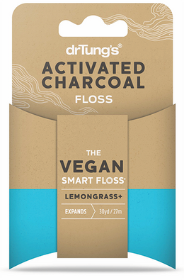 Dr Tung's Activated Charcoal Floss 27m with Lemongrass
