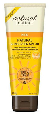 Natural Instinct Kids Natural Sunscreen SPF30 200g