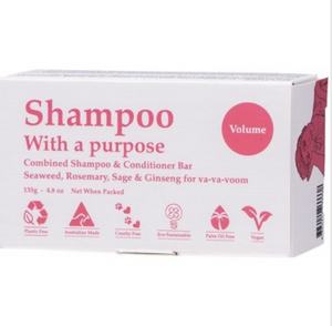Shampoo With a Purpose Shampoo & Conditioner Bar - Volume