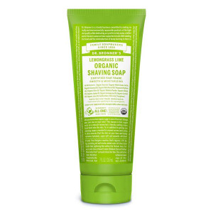 Dr Bronner's Organic Shaving Soap - Lemongrass Lime 207ml