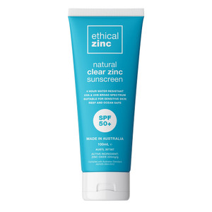 Ethical Zinc Natural Clear Zinc Sunscreen SPF50+