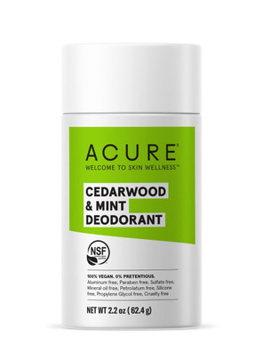 Acure Natural Deodorant Stick - Cedarwood & Mint 62.4g