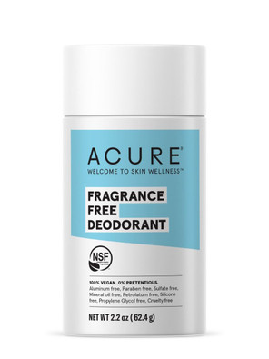 Acure Natural Deodorant Stick - Fragrance Free 62.4g