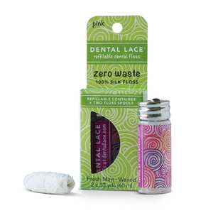 Dental Lace Refillable Dental Floss - Sea Rose 60m