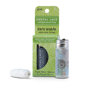Dental Lace Refillable Dental Floss - Granite 60m