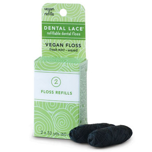 Dental Lace Refills - Vegan Bamboo Charcoal Floss 2 x 30m