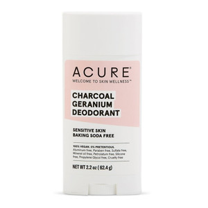 Acure Natural Deodorant Stick - Charcoal Geranium (Sensitive Bicarb Free)