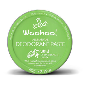 Woohoo All Natural Deodorant Paste - Wild (Extra Strength)