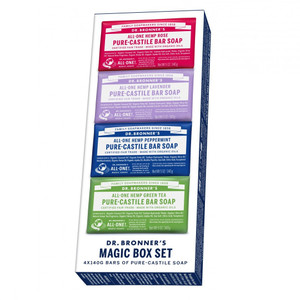 Dr Bronner's Magic Box Set - 4 Soap Bar Pack