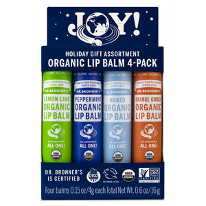 Dr Bronner's Joy Organic Lip Balm Set - 4 Pack