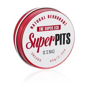 The Super Eco Super Pits Natural Deodorant - Zing 60g