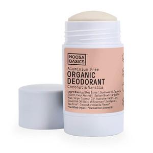 Noosa Basics Organic Deodorant Stick - Coconut & Vanilla 60g