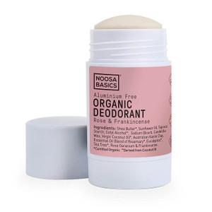 Noosa Basics Organic Deodorant Stick - Rose & Frankincense 60g