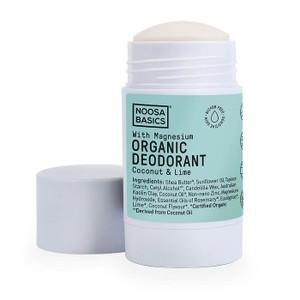 Noosa Basics Organic Deodorant Stick with Magnesium - Coconut & Lime 60g