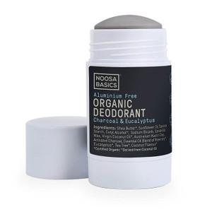 Noosa Basics Organic Deodorant Stick - Charcoal & Eucalyptus 60g