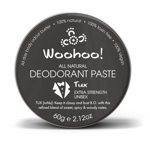 Woohoo All Natural Deodorant Paste - Tux (Extra Strength) 60g