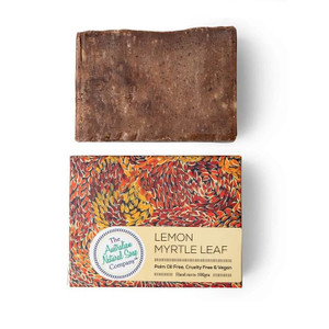 Australian Natural Soap Company Lemon Myrtle Leaf Soap with box