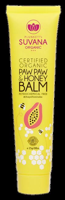 Suvana Certified Organic Paw Paw & Honey Balm 25g
