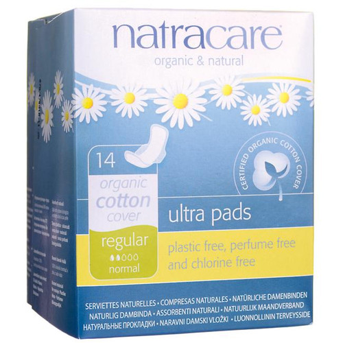 Natracare Ultra Pads With Wings - Regular