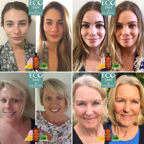 4c2b23f1d594 ... Eco Tan Face Tan Water - before   after images ...