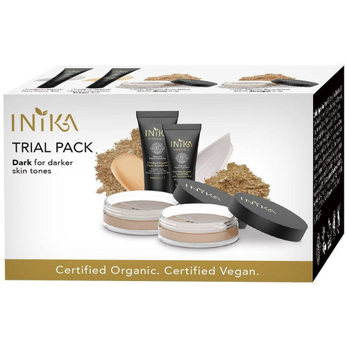 Inika Foundation Trial Pack for dark skin tones - box view